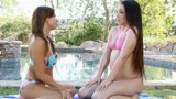 By The Pool with Sara Luvv and Lola Foxx
