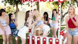Ivy Wolfe and Danni Rivers Caught At The Kissing Booth